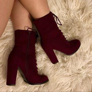 NWOT | Malbec Block Heel Booties by Carlos Santana